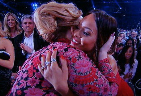 Adele and Rihanna at the Grammys