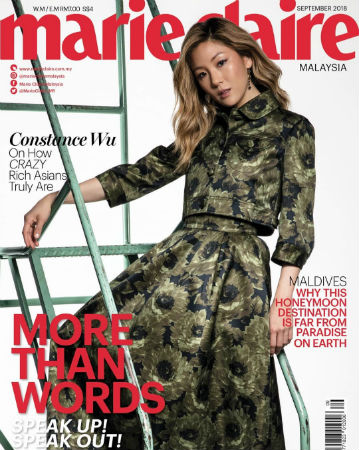 Constance Wu Covers Marie Claire Malaysia