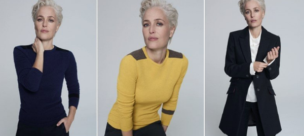 Gillian Anderson Debuts New Look, New Line