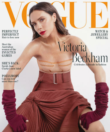 Victoria Beckham covers Vogue Australia