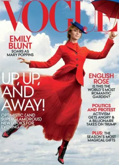 Emily Blunt Vogue Cover Mary Poppins