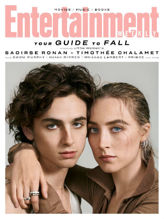 Timothée Chalamet and Saoirse Ronan EW cover